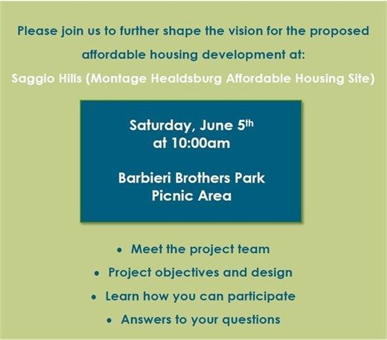 Image of flyer on affordable housing meeting