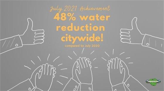 A water saving poster