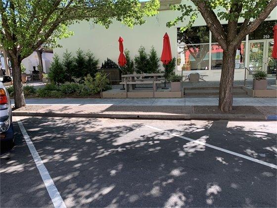 New sidewalk on Center Street.