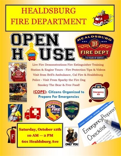 Flyer for Fire Department Open House