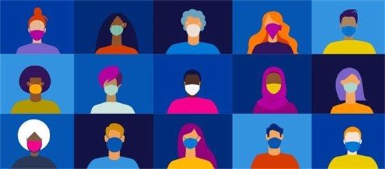 Image of people wearing face masks