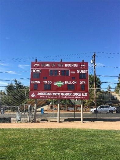 New scoreboard at Rec Park