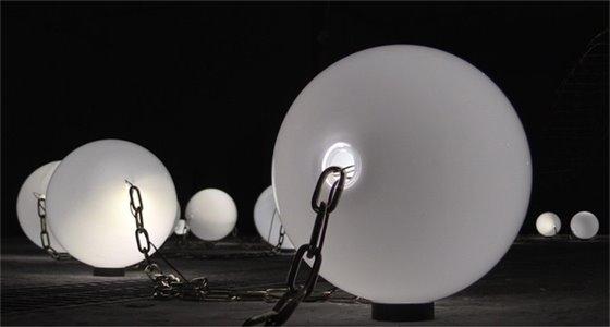 Illumination Art Installation white spheres
