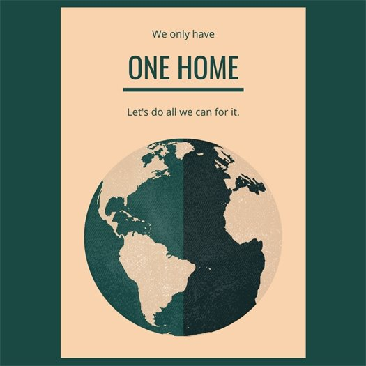 We only have one home. Let's do all we can for it.