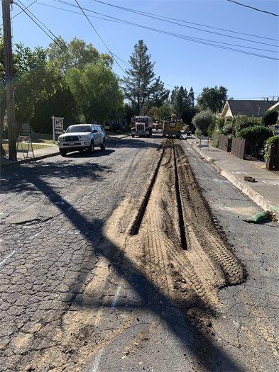 College Street sewer main repair
