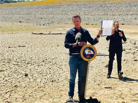 Governor Newsom at Lake Mendocino