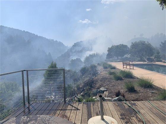 Prescribed burn on steep hillside at Chemise Road