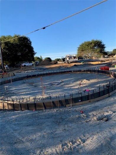Image of roundabout work in progress.