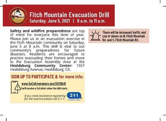 Postcard of the Fitch Mountain Evacuation Drill