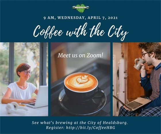 Advertisement for Coffee with the City