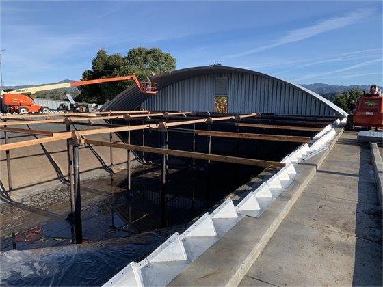 Progress on new Gauntlett Reservoir Roof