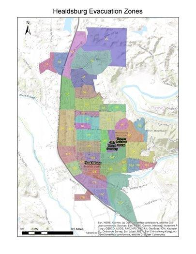 Image of evacuation zones