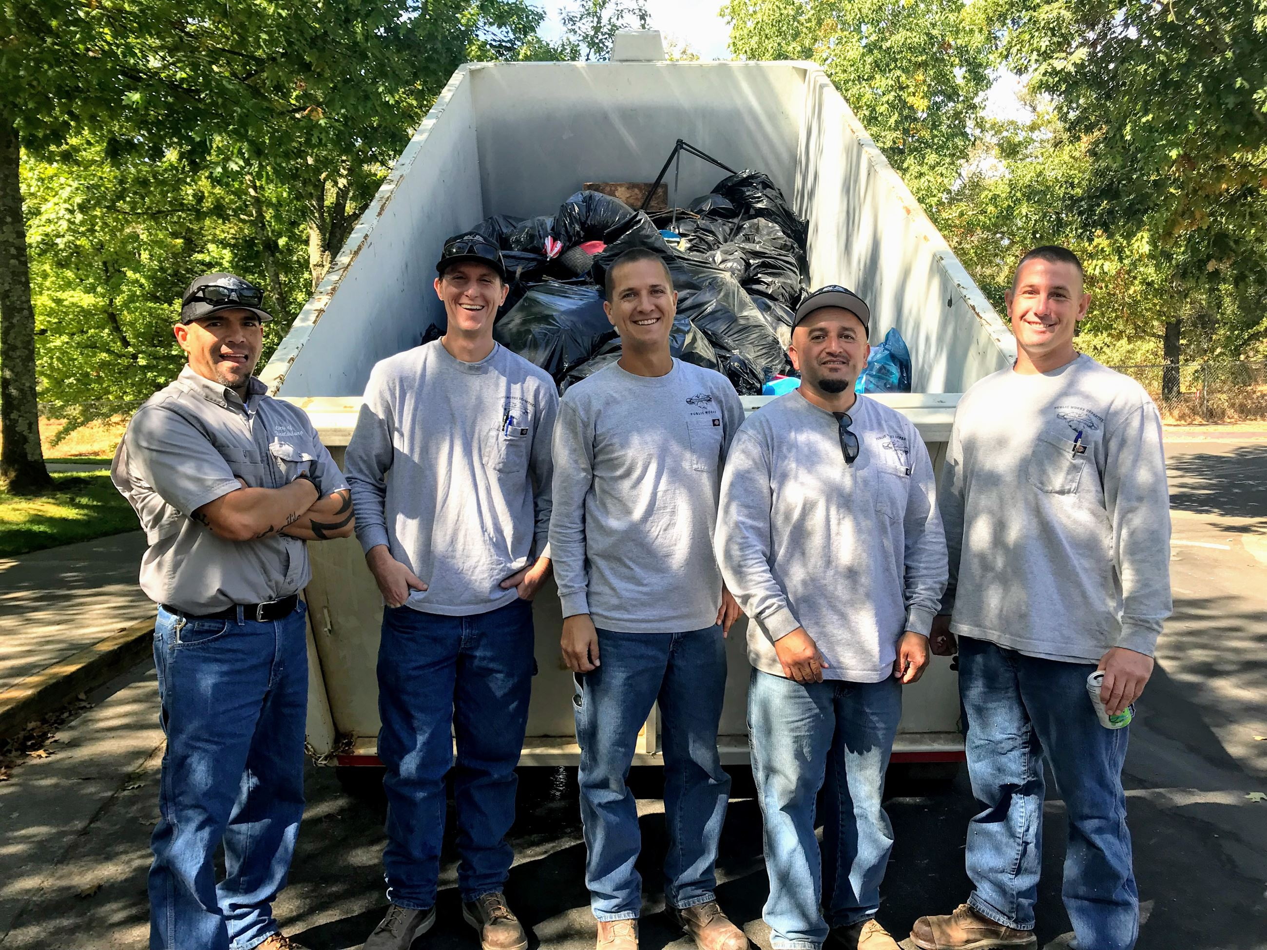 Public Works Staff at Foss Creek Cleanup
