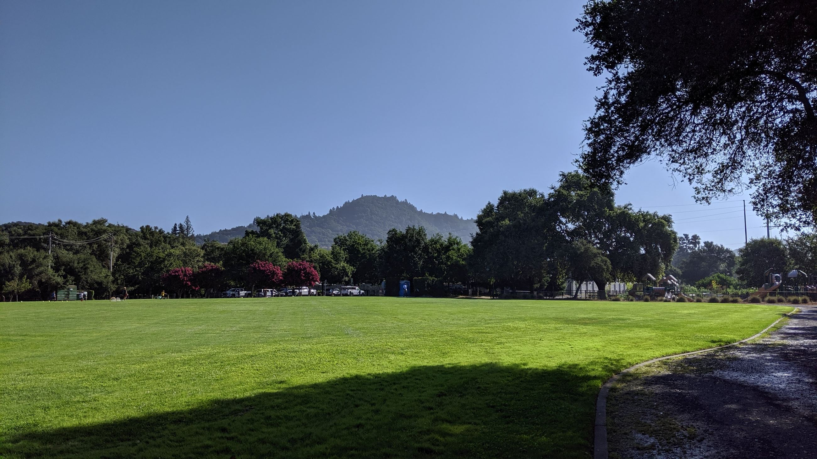 Badger Park with Fitch Mountain in background