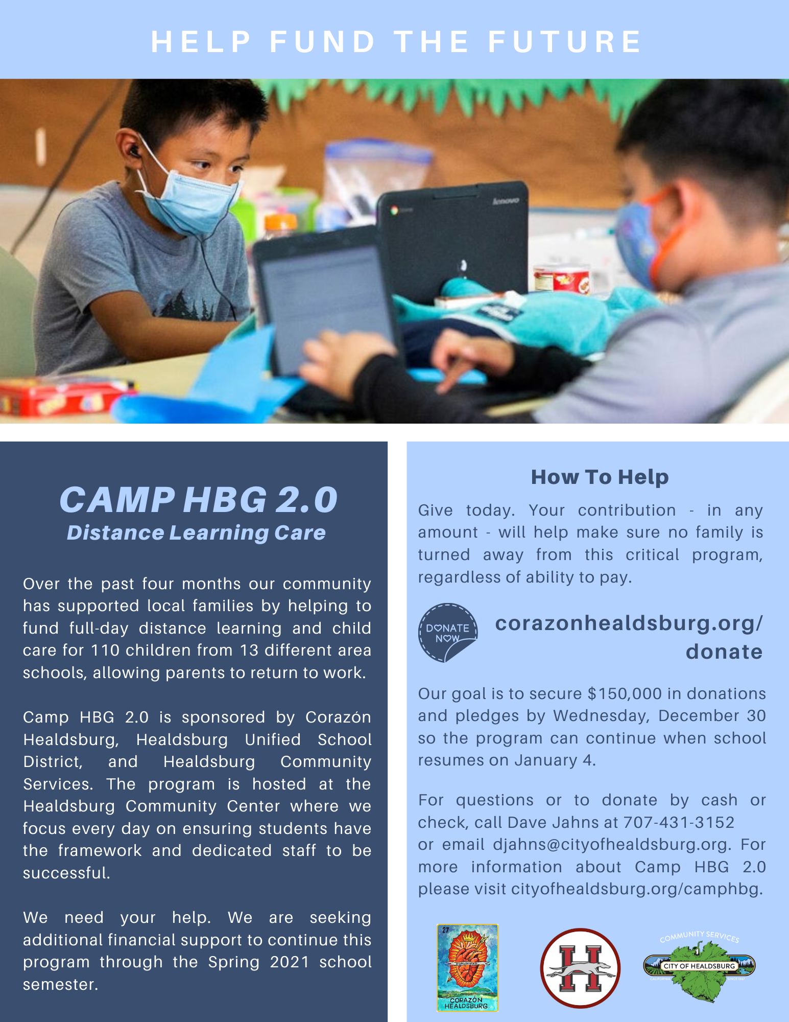 Camp HBG 2.0 Fundraising Flyer 2021