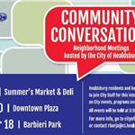 Community Conversations half flyer