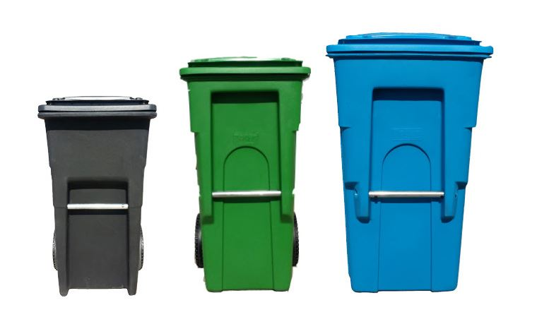 Landfill, Recycling, Compost Bins