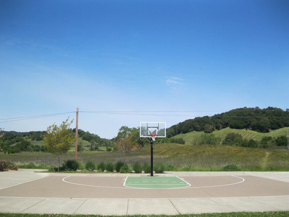 A basketball court at a city park