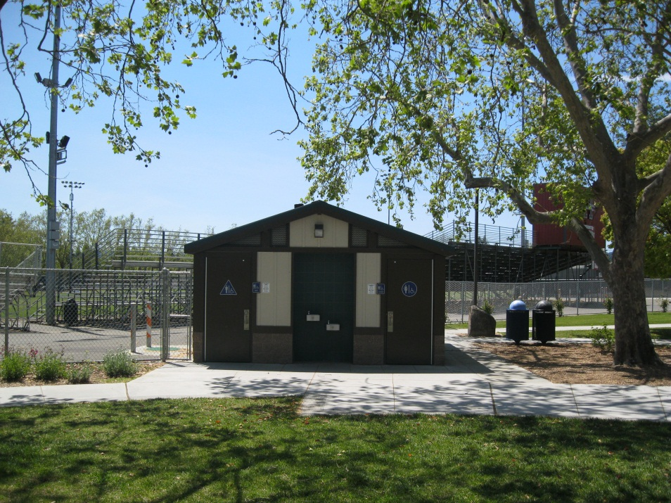 A restroom facility at a city park